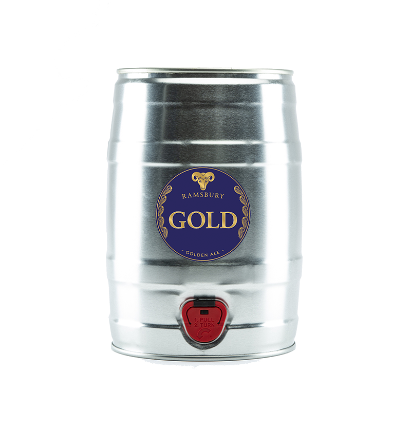 Ramsbury Gold 9 Pint Mini Kegs