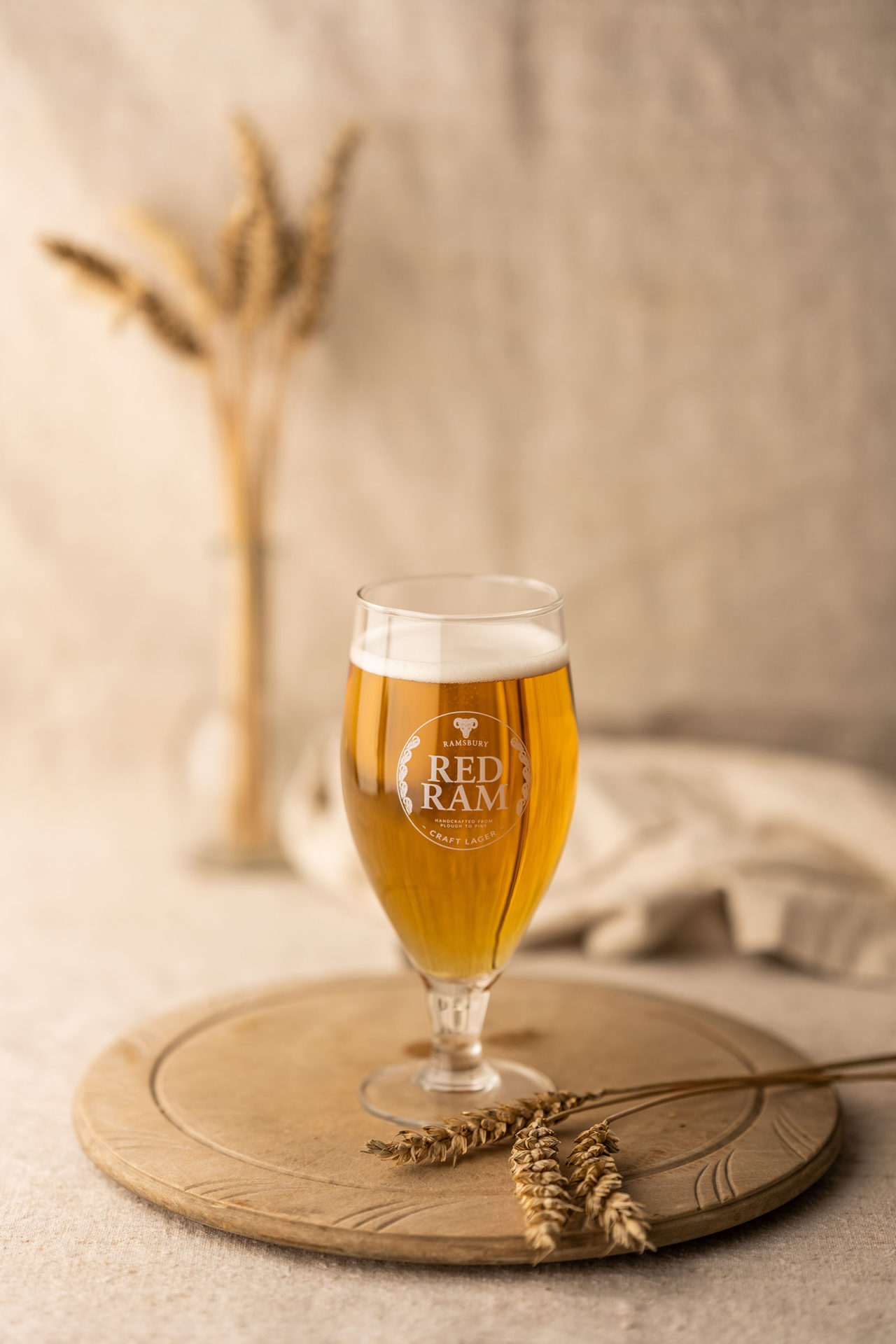 Red Ram Lager Glass